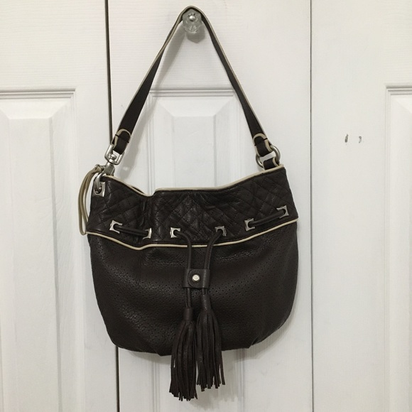 FRANCESCO BIASIA | Dark Brown Shoulder Bag Tassels